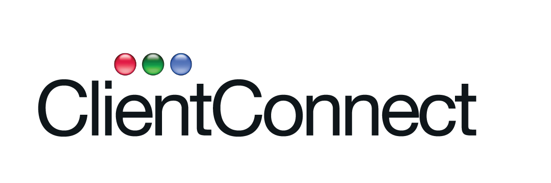 client connect logo clear background - no text black
